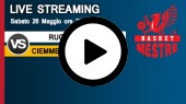DIRETTA STREAMING: RUCKER SANVE - CIEMME BASKET MESTRE